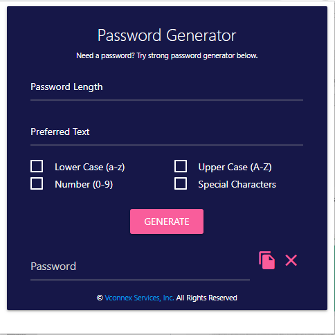 Password Generator Functional Logic
